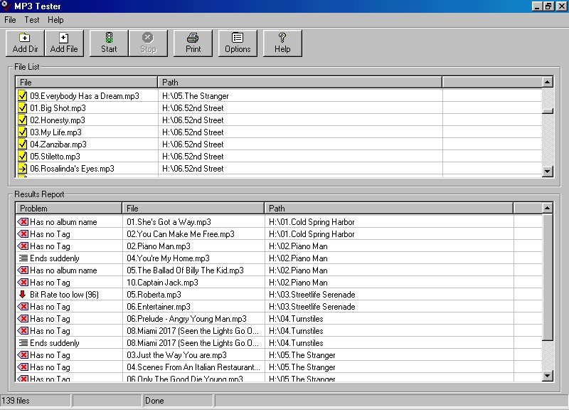 Click to view MP3 Tester 1.04 screenshot